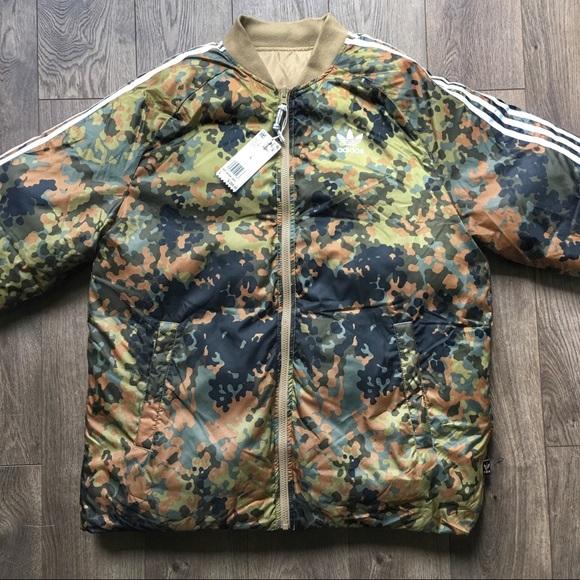 NWT adidas x Pharrell hu Hiking Camo SST Jacket